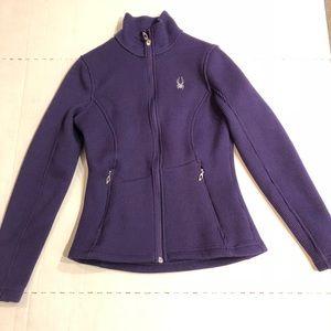 SPYDER core sweater zip up jacket plum purple